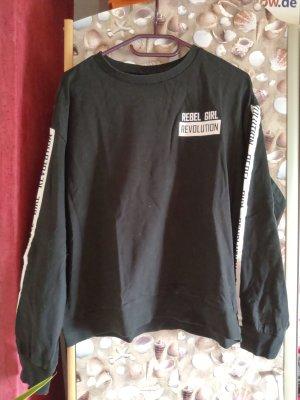 H&M Divided Crewneck Sweater white-black