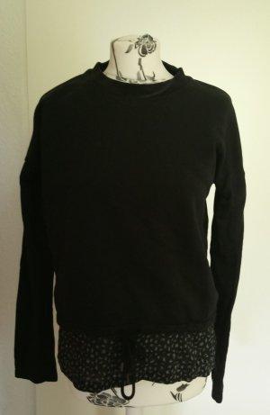 Schwarzer Pullover mit Bluseneinsatz Armedangels M
