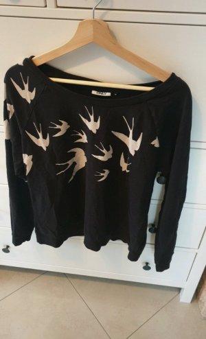 Schwarzer Pullover mit Motiv Vögel *Only* Grösse M