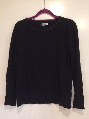 Blue Motion Sweter z okrągłym dekoltem czarny