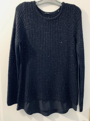 Schwarzer Pullover mit Pailletten von Zero