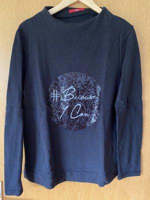 Schwarzer Pullover mit Paillettendruck