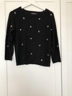 Zara Maglione girocollo nero-bianco