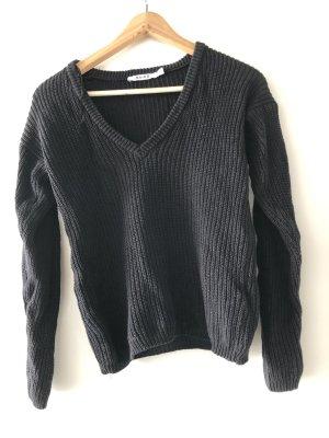Schwarzer Pullover NA-KD