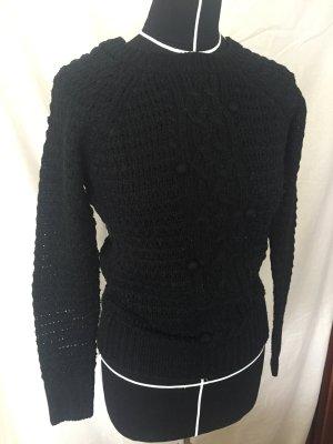 Schwarzer Pullover Strick