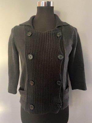 Comptoir des Cotonniers Coarse Knitted Jacket black cotton