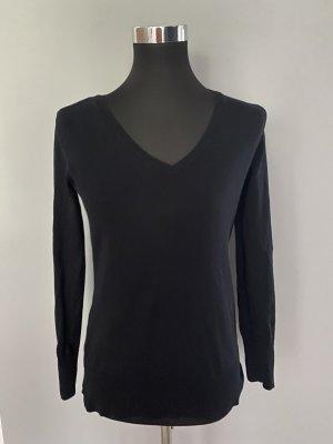 Schwarzer Pullover von H&M Basic, Gr. S