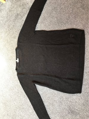 Street One Kraagloze sweater zwart