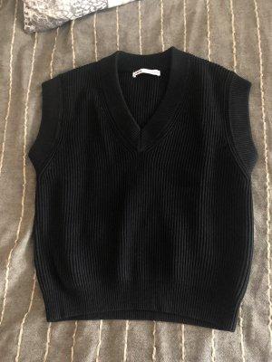 Schwarzer Pullunder M Zara
