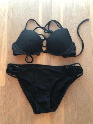 Schwarzer Push-Up Bikini