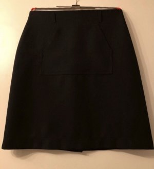 Falda asimétrica negro