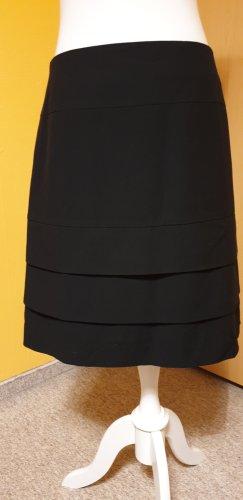 Comma Jupe superposée noir viscose