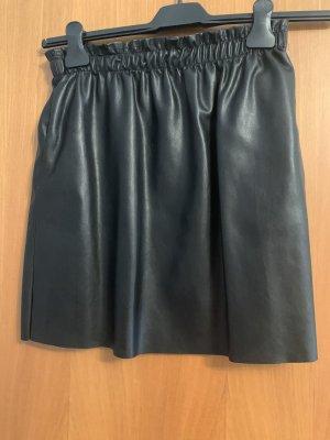 Vintage Dressing Faux Leather Skirt black