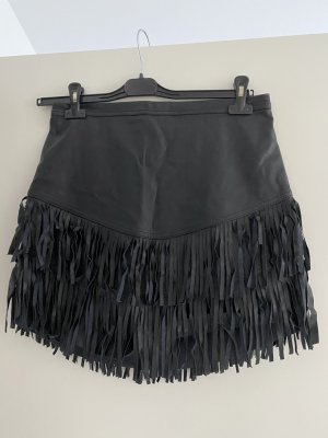 Abercrombie & Fitch Fringed Skirt black