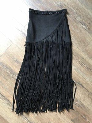 H&M Jupe à franges noir