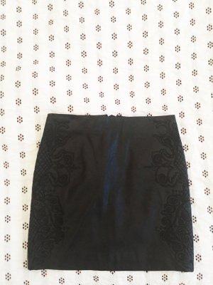 Zara Leather Skirt black imitation leather