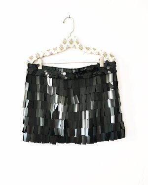 schwarzer rock • sequin • vintage • pailletten • classy • blackfashion