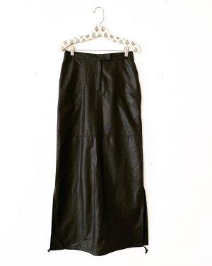 schwarzer rock • vintage • maxi • high waist