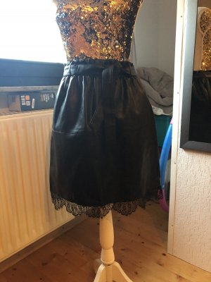 Haily's Faux Leather Skirt black