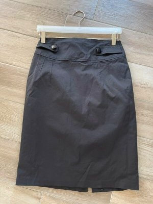 Taifun Spódnica midi czarny Tkanina z mieszanych włókien