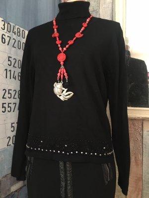 Miss H. Maglione dolcevita nero Viscosa