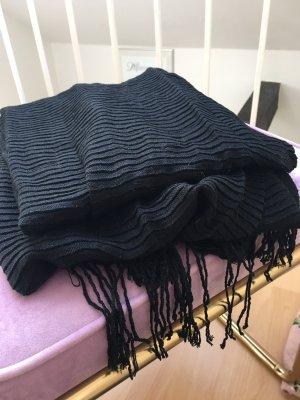 Pieces Écharpe à franges noir