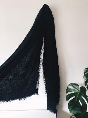 Review Écharpe à franges noir acrylique