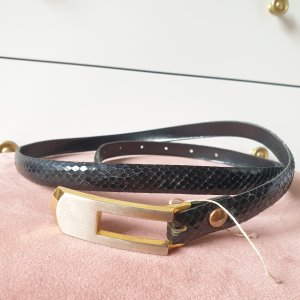 VINTAGE  70er Waist Belt black-gold-colored