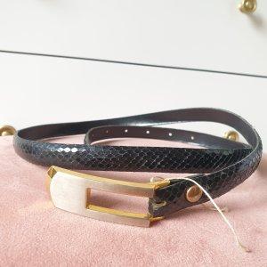 VINTAGE  70er Cinturón pélvico negro-color oro