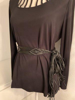 Cintura intrecciata nero