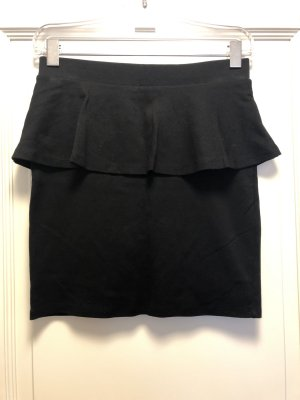 Yessica Mini rok zwart Viscose