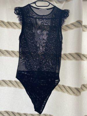 Schwarzer Spitzen-Body von ZARA