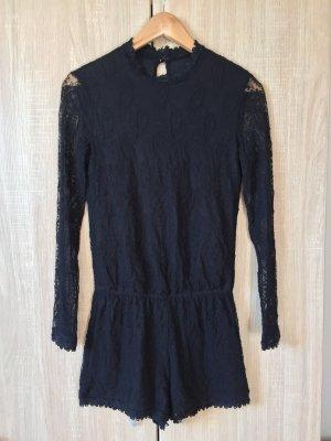 Schwarzer Spitzen Jumpsuit von Zara, Gr. XS (NEU)