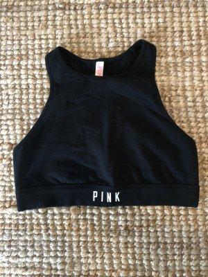 Pink Victoria's Secret Top sportowy czarny-biały