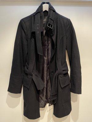 Schwarzer Stoffmantel von Zara | Größe M | wie neu