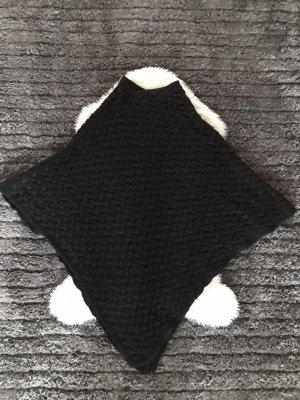 Sweter bez rękawów z cienkiej dzianiny czarny
