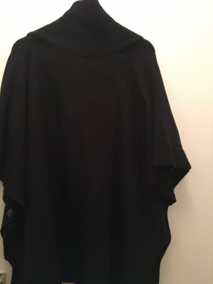 H&M Knitted Poncho black