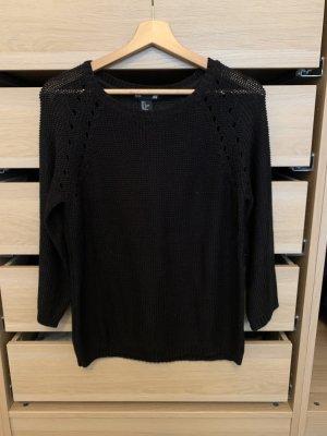 H&M Gebreide trui zwart