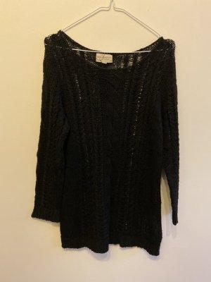 Denim & Supply Ralph Lauren Coarse Knitted Sweater black cotton