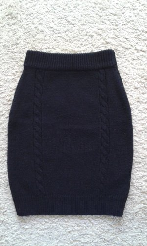 Vila Knitted Skirt black mixture fibre