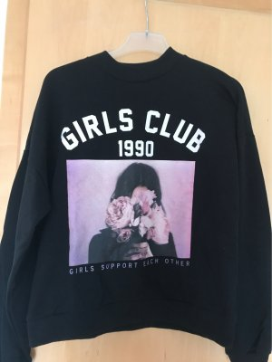 Schwarzer Sweater mit Print