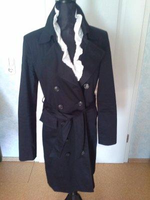 Zero Trench Coat black cotton
