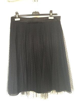 Rena Lange Jupe en tulle noir tissu mixte