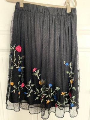 Zara Trafaluc Falda de tul multicolor