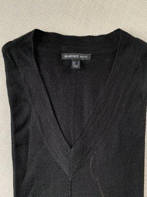 Schwarzer V-Pullover von Mango