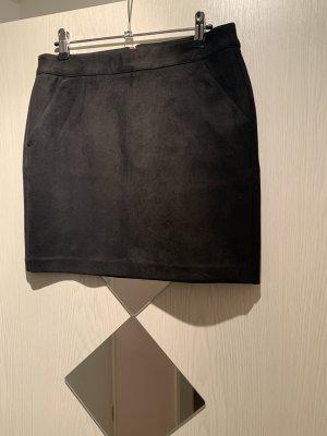 Schwarzer Vero Moda Kunstlederrock