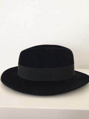 Schwarzer Vintage Filz Hut