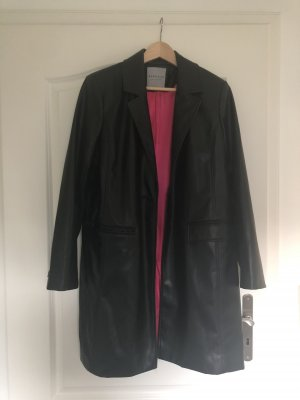 Bagatelle Leather Coat black-pink