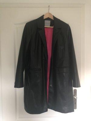 Bagatelle Manteau en cuir noir-rose