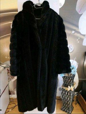 Canda Cappotto in eco pelliccia nero